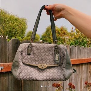 COACH grey handbag